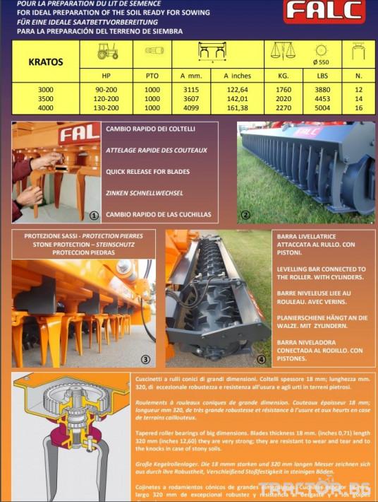 Фрези Фреза Falc KRATOS 3.0 2 - Трактор БГ