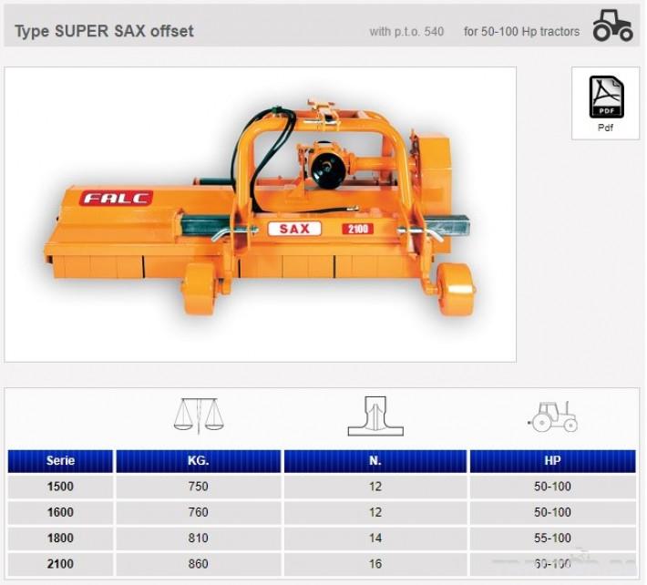 Мулчери Мулчер Falc SUPER SAX 2100 0 - Трактор БГ