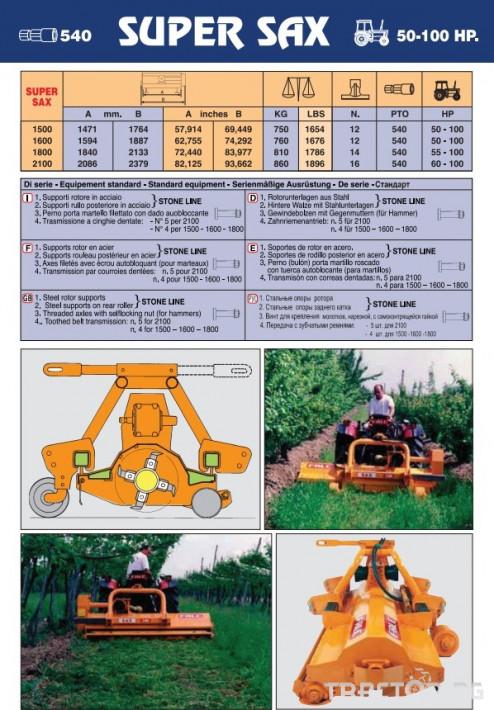 Мулчери Мулчер Falc SUPER SAX 2100 1 - Трактор БГ
