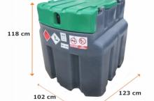 Мобилен резервоар за гориво с колонка и разходомер JFC - 950l.